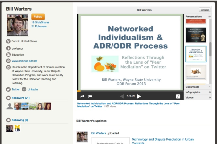 Slideshare collection screenshot.