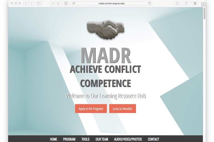 MADR Learning Hub start page.